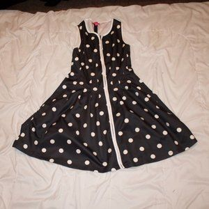 Black and White Polka Dot Sun Dress